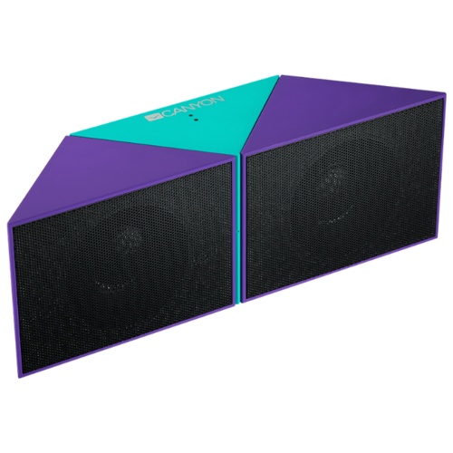 Портативная акустика Canyon CNS-CBTSP4 фиолетовый / голубой портативная акустика canyon cne cbtsp6 black