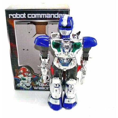 Купить Робот Shantou Gepai Robot Commander JL-728D серебристо-синий, Роботы и трансформеры