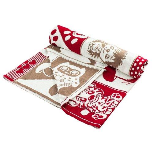 Купить Плед LEO Пэчворк 90x100 красный, Покрывала, подушки, одеяла