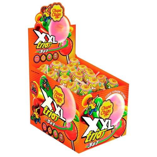 Карамель Chupa Chups XXL Trio с жевательной резинкой вкус ассорти 1160 г игрушка с конфетами pez вкус ассорти 70 г