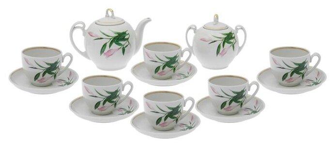 Чайный сервиз Добрушский фарфоровый завод Гармония (Бутон) 14 предметов