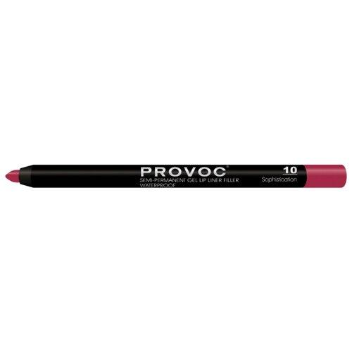 Provoc Гелевая подводка в карандаше для губ Semi-Permanent Gel Lip Liner 10 sophistication недорого