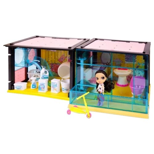 Купить ABtoys Модный дом PT-00852, розовый/желтый/голубой, Кукольные домики