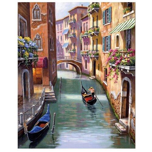 Алмазная живопись Набор алмазной вышивки Венецианская улочка (АЖ-1413) 40x50 см, Алмазная вышивка  - купить со скидкой