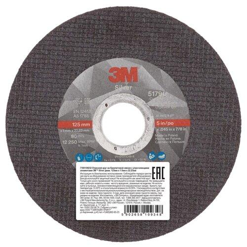 Фото - Диск отрезной 125x1x22.23 3M Silver T41 51790 1 шт. диск отрезной 125x1 6x22 23 3m