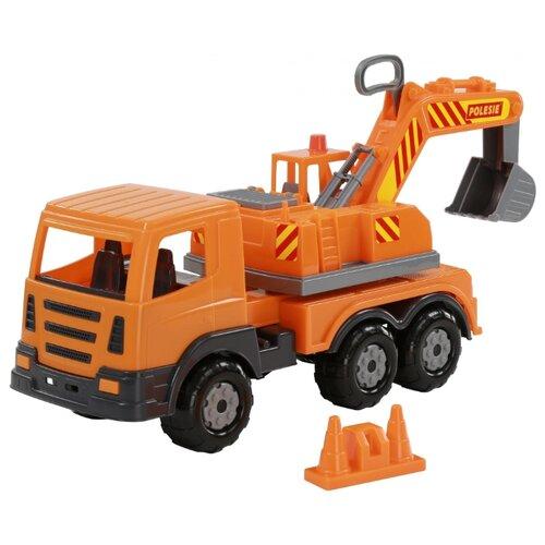 Купить Экскаватор Полесье Престиж (71187) 42.5 см оранжевый, Машинки и техника