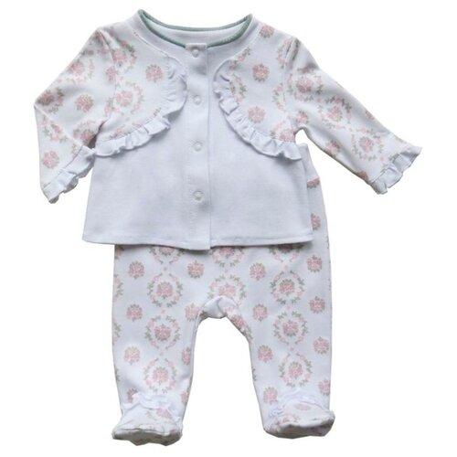 Комплект одежды Sonia Kids размер 62, белый/розовыйКомплекты<br>