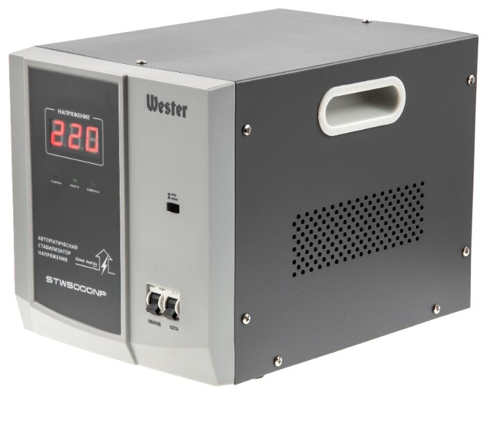 Стабилизатор напряжения однофазный Wester STW-5000NP (4 кВт)