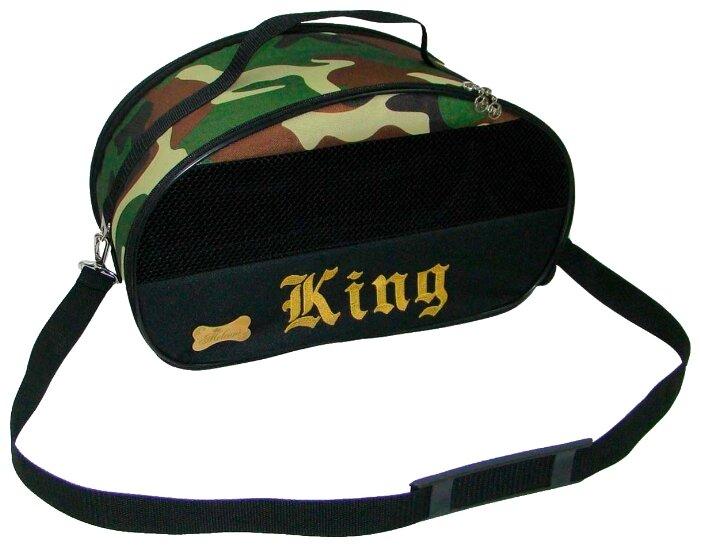 Переноска-сумка для кошек и собак Melenni Стандарт King S 44х26х23 см черный