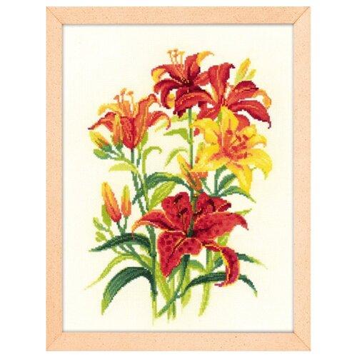 Купить Риолис Набор для вышивания крестом Солнечные лилии 25 х 33 (1782), Наборы для вышивания