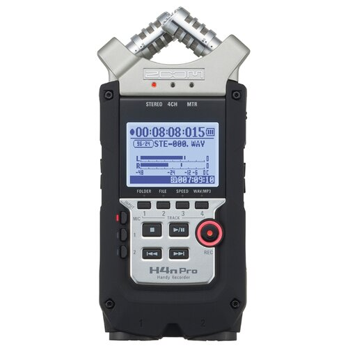 Портативный рекордер Zoom H4n Pro черный/серебристый цифровой диктофон zoom h4n pro
