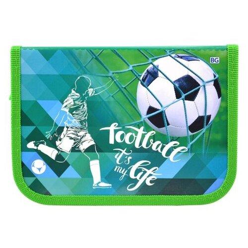 BG Пенал Футболист (ПБк_лк 4399) голубой/зеленый
