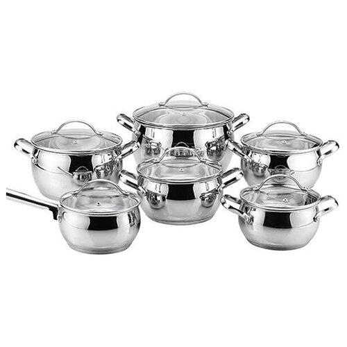 Набор посуды Maestro MR3501-12 12 пр. серебристый