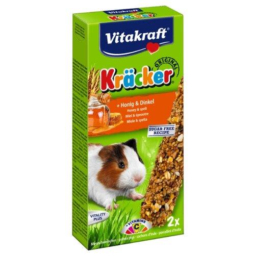 Лакомство для грызунов Vitakraft Крекеры Original мёд и спельта 112 гЛакомства для грызунов<br>
