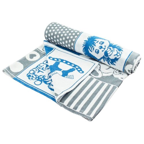 Купить Плед LEO Пэчворк 90x100 синий, Покрывала, подушки, одеяла