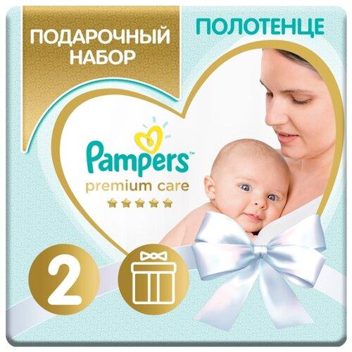 Купить Pampers Подарочный набор Premium Care для новорожденных, размер 2, 4-8кг, детское полотенце, Сборы в роддом