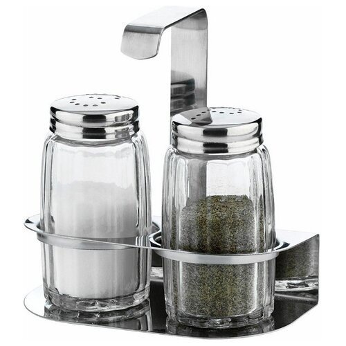 Tescoma Набор емкостей для соли и перца на подставке Classic прозрачный/стальной