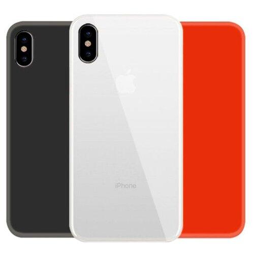 Купить Чехол With Love. Moscow Комплект для Apple iPhone X/Xs (W000904APP) прозрачный/черный/красный