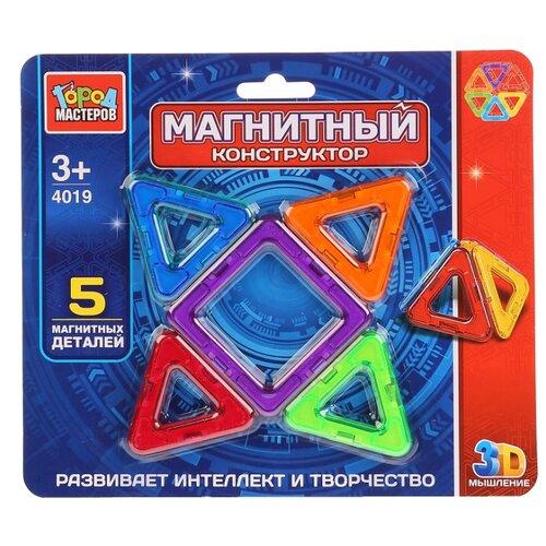 Магнитный конструктор ГОРОД МАСТЕРОВ Магнитный 4019