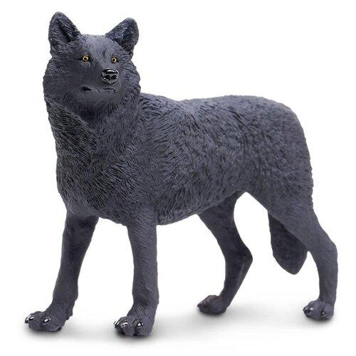 Фигурка Safari Ltd Черный волк 112989 фигурка safari ltd черный носорог 228929