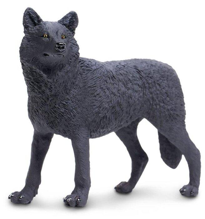 Фигурка Safari Ltd Черный волк 112989
