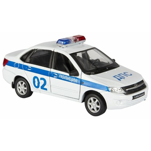 Купить Легковой автомобиль Welly LADA Granta Полиция (43657PB) 1:34 белый, Машинки и техника