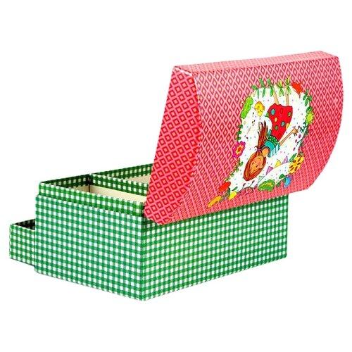 Русские подарки Шкатулка 88263 красный/зеленый шкатулка декоративная русские подарки русские подарки mp002xu02r42
