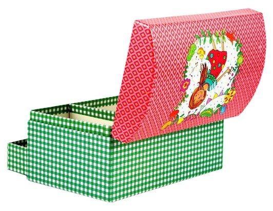 Русские подарки Шкатулка 88263 красный/зеленый