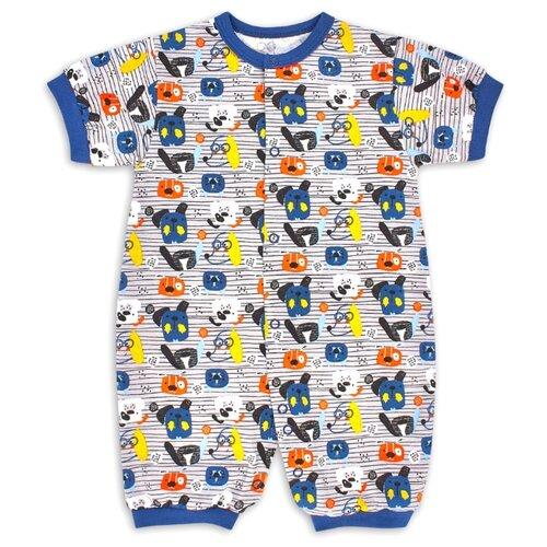 Фото - Комбинезон Веселый Малыш размер 74, синий/желтый/собачий вальс комбинезон веселый малыш размер 74 серый