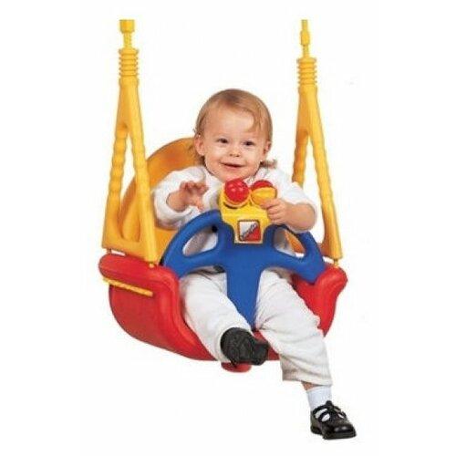цена на Edu-play Детские качели подвесные 3 в 1 До Ре Ми синий/красный/желтый