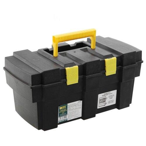 Ящик с органайзером FIT 65515 33.5x18x16 см 13'' черный/желтый ящик с органайзером stanley jumbo 1 92 908 31 4x56 2x30 см желтый черный