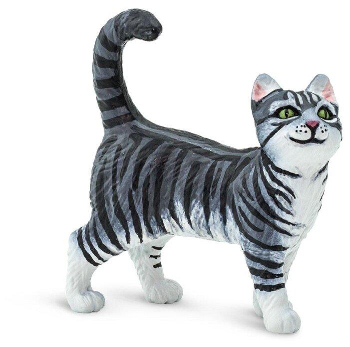 Фигурка Safari Ltd Серая полосатая кошка 100128