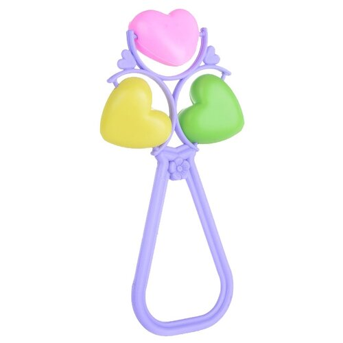 Купить Погремушка Пластмастер Лаванда фиолетовый/желтый/зеленый, Погремушки и прорезыватели
