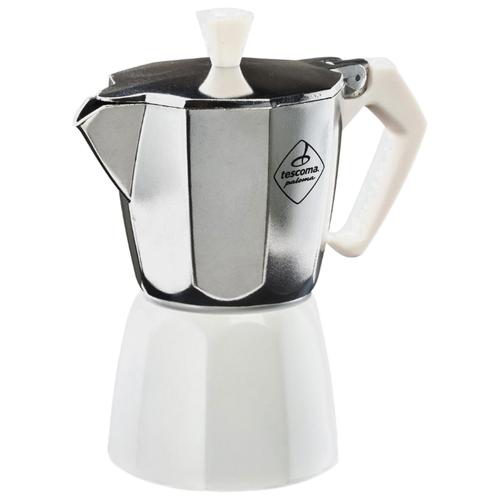 Гейзерная кофеварка Tescoma Paloma на 3 чашки, серебристый/белый