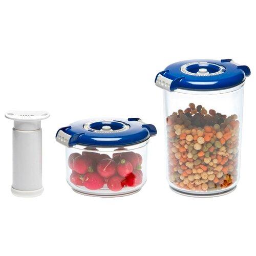 STATUS Набор вакуумных контейнеров VAC-RD-Round blue набор контейнеров для вакуумирования status vac rd round blue