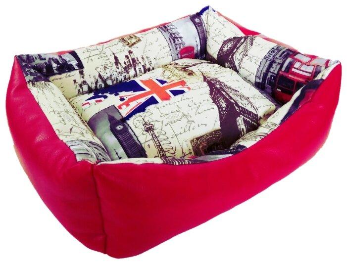 Лежак для кошек, для собак LOORI Европа Z1088 45х35х13 см с принтом