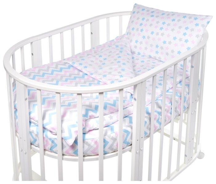 Комплект постельного белья Комплект постельного белья Sweet Baby Amato Rosa Розовый в круглую/овальную кровать, 4 пр., поплин