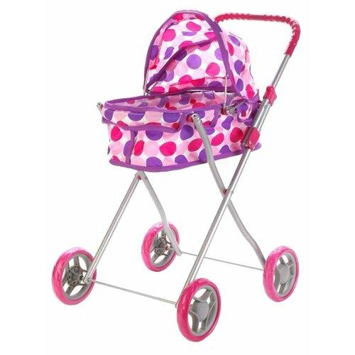 Купить Коляска-люлька Карапуз 63CA-C3 бело-фиолетово-розовый, Коляски для кукол