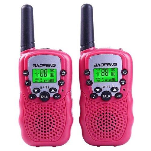 Комплект раций Baofeng BF-T3 - розовые