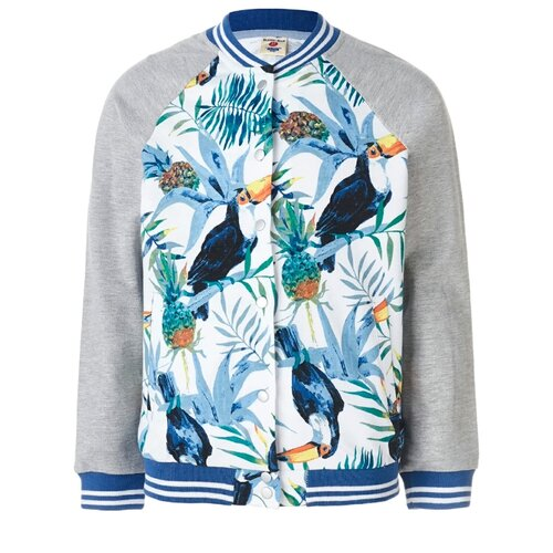 Купить Бомбер Button Blue 119BBGC16020018 размер 110, белый, Куртки и пуховики