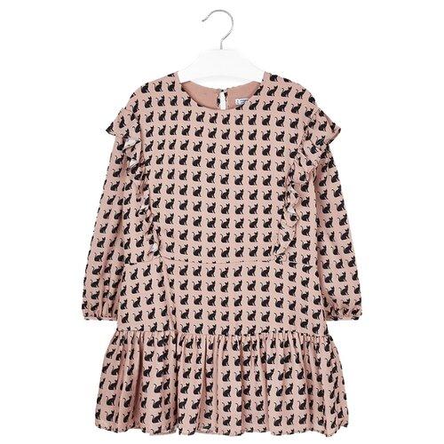Купить Платье Mayoral размер 152, бежевый, Платья и сарафаны