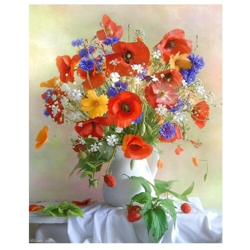 Купить Paintboy Картина по номерам Летний букет 40х50 см (GX22181), Картины по номерам и контурам