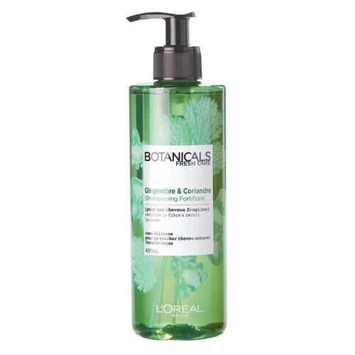 Купить L'Oreal Paris шампунь Botanicals Fresh Care Имбирь & Кориандр для ломких волос 400 мл с дозатором