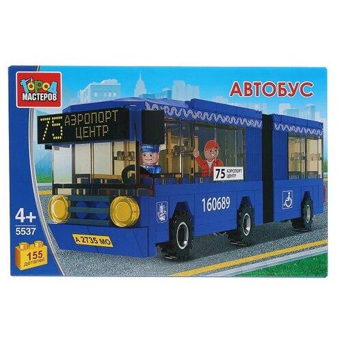 Купить ГОРОД МАСТЕРОВ Городской транспорт 5537 Автобус с гармошкой, Конструкторы