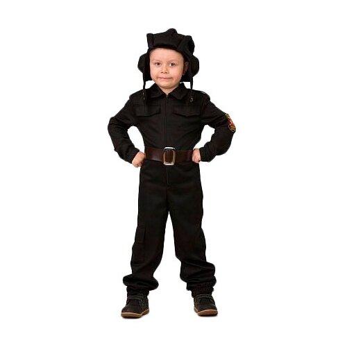 Купить Костюм Батик Танкист (8014), черный, размер 146, Карнавальные костюмы