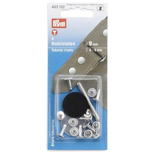 Купить Prym Клепки с отверстием 6-9мм (403152), серебристый, 9 мм, 8 шт., Кнопки