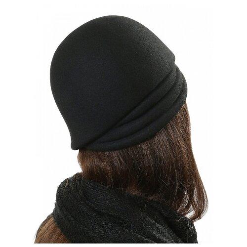 Щелково-фетр 132-55 Шляпа женская мод.132 цвет черный р 55