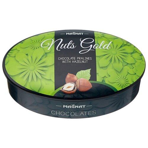 Набор конфет Magnat Nuts Gold пралине из лесного ореха и орехового крема 122 г зеленый magnat power plus 213
