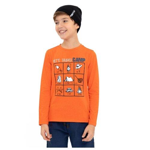 Купить Лонгслив Button Blue размер 158, оранжевый, Футболки и майки