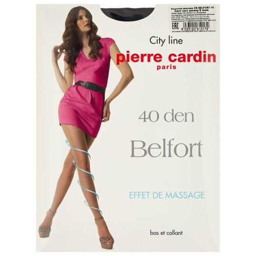 Колготки Pierre Cardin Belfort, City Line 40 den, размер V-XL, nero (черный) фото